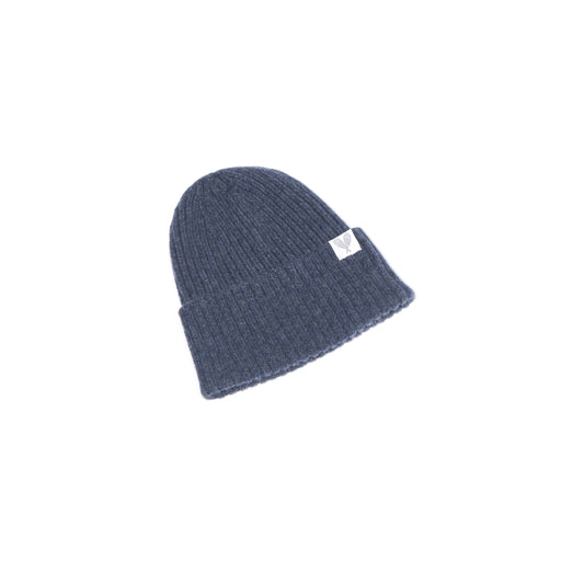 Cashmere Ribbed Slouchy Toque (Raw Edge)