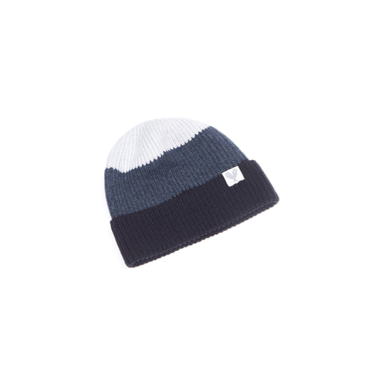 Cashmere Colour Block Toque (Raven/Raw Edge/Calcite)