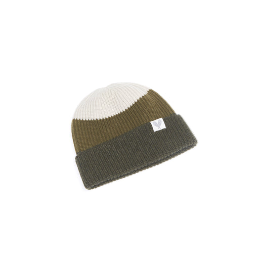 Cashmere Colour Block Toque (Loden/Olive Dun/Earl Grey)