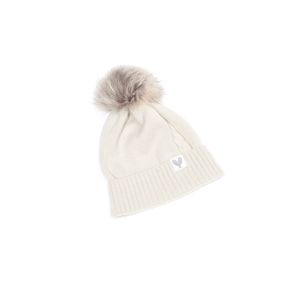 Cashmere Single Cable Toque (Earl Grey)