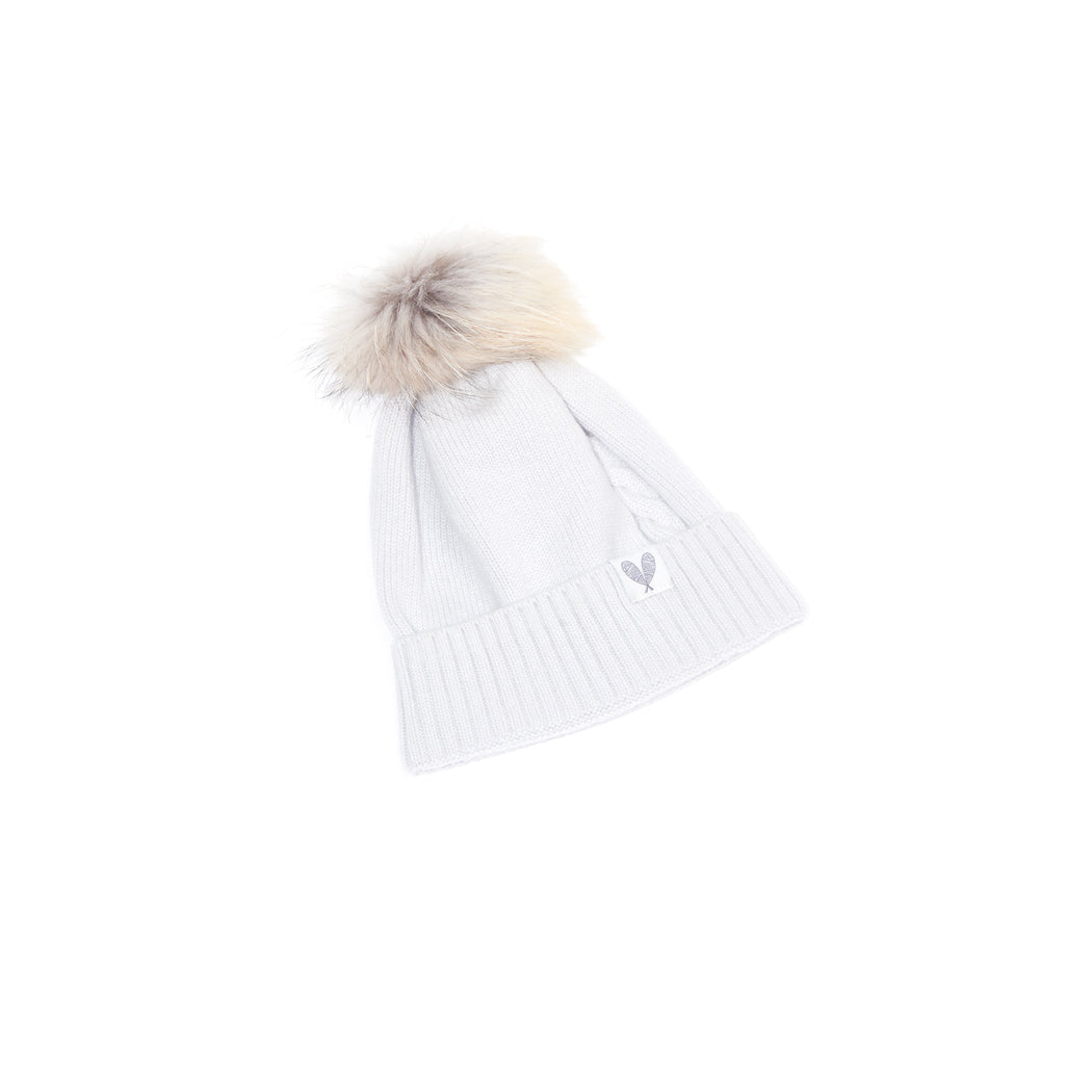 Cashmere Single Cable Toque (Calcite)