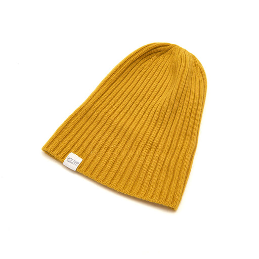 Cashmere Ribbed Slouchy Toque (Tumeric)