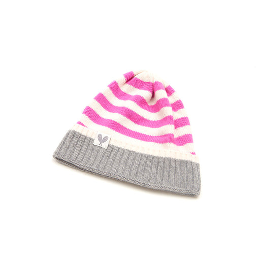 Cashmere Striped Toque (Niveous/Neon Pink/Felt Grey)