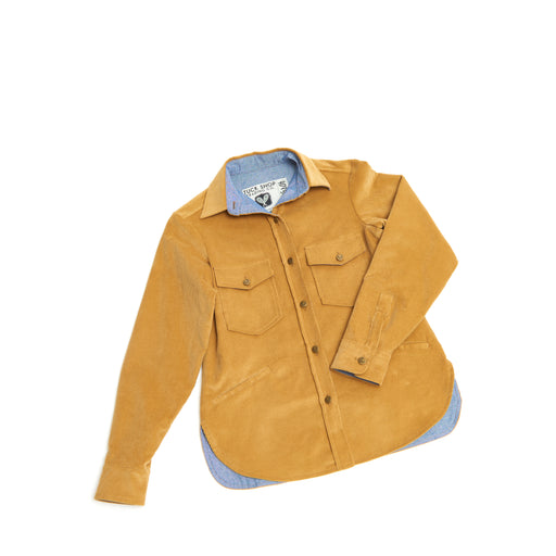 Women's Corduroy Cottage Coat (Camel)