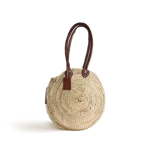 Panier Round Small with Leather Handles