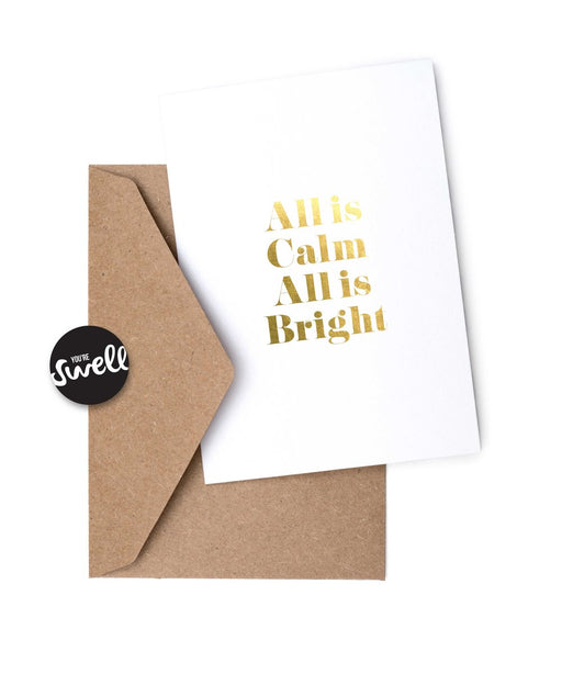 Card - All is Calm, All is Bright