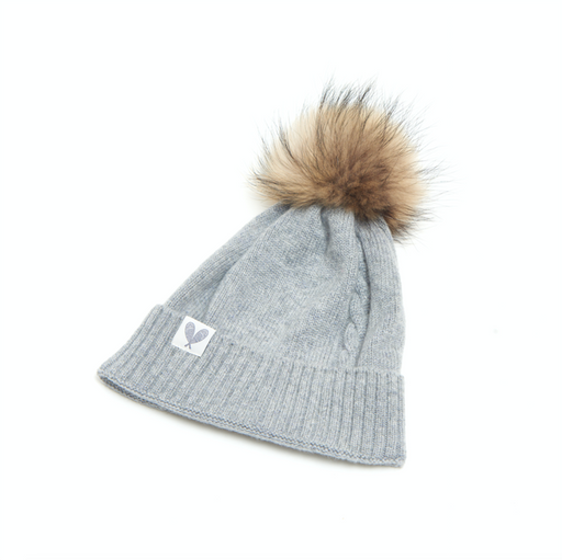 Single Cable Cashmere Toque (Felt Grey)