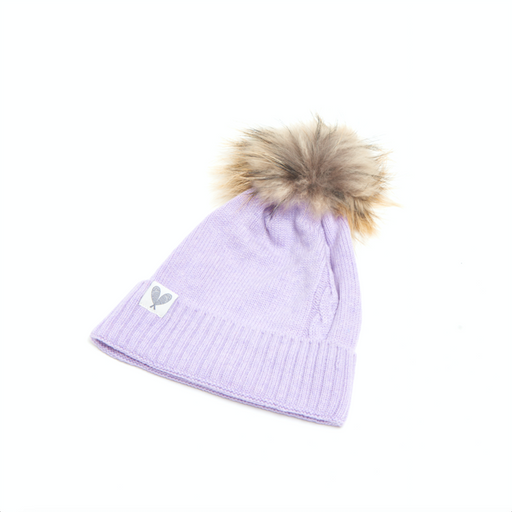 Cashmere Single Cable Toque with Pom (Lavadula)