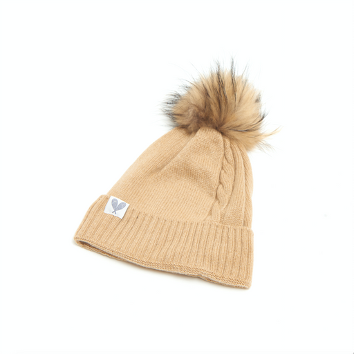 Single Cable Cashmere Toque (Sandstorm)