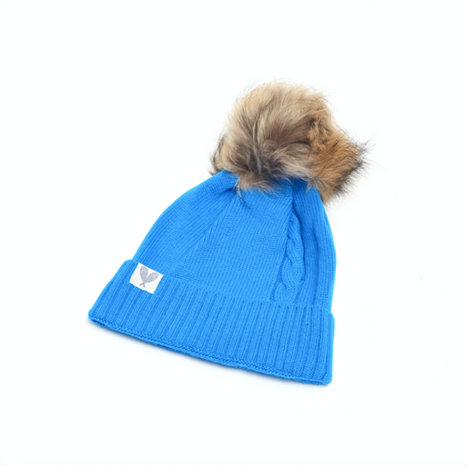 Cashmere Single Cable Toque with Pom (Shard)