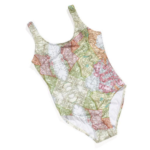 Tank Bather - Map Print
