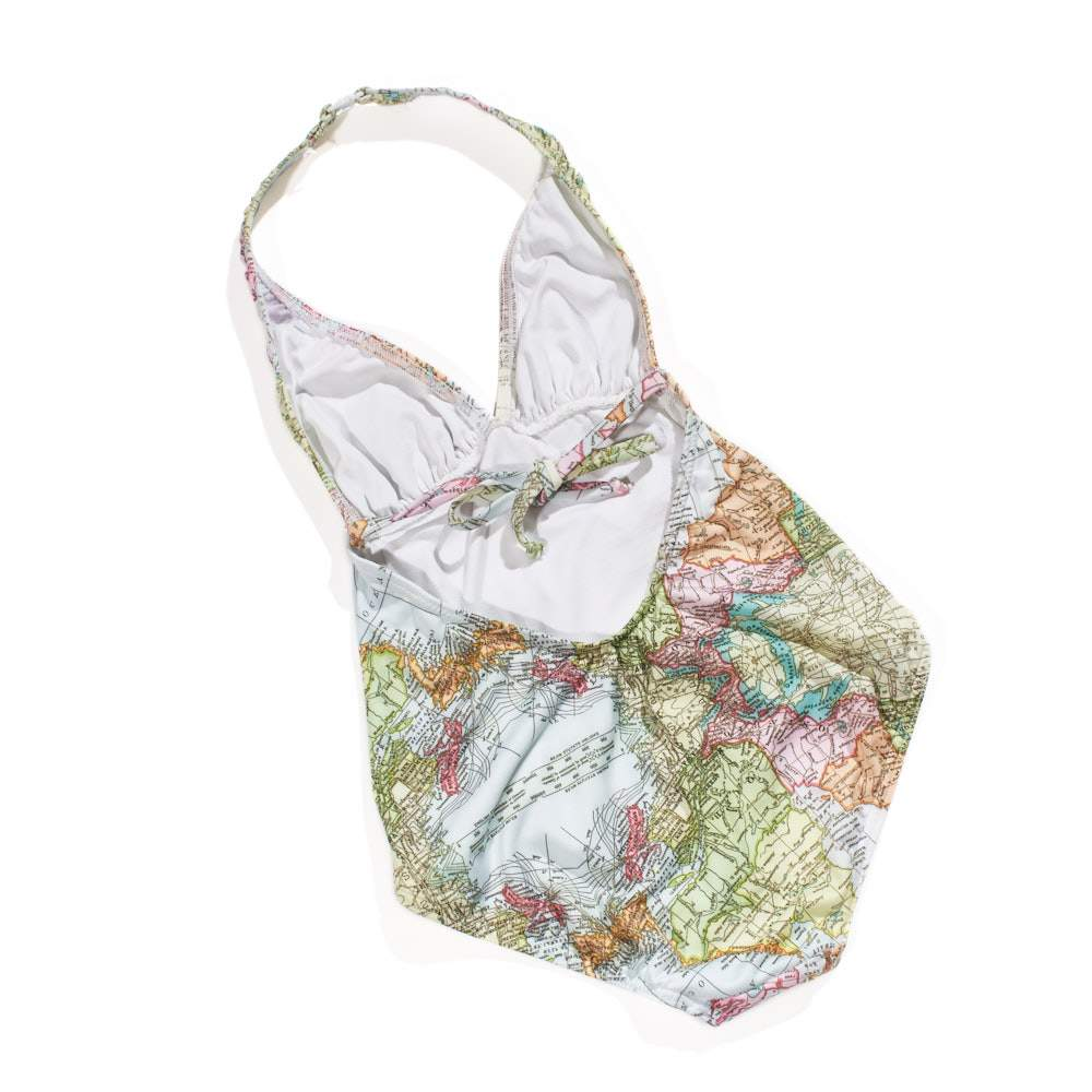 Halter Bather - Map Print