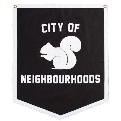 City of Neighbourhoods White Squirrel Banner