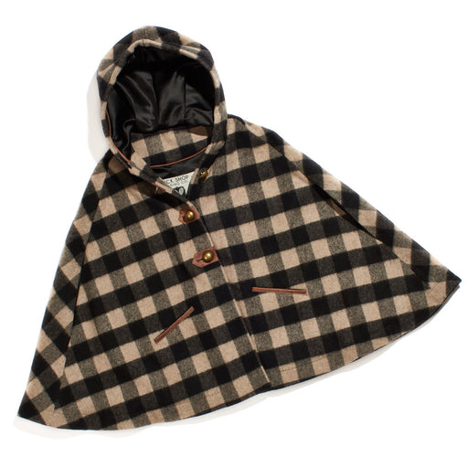 Dreamy Cape Black/Tan Buffalo Check