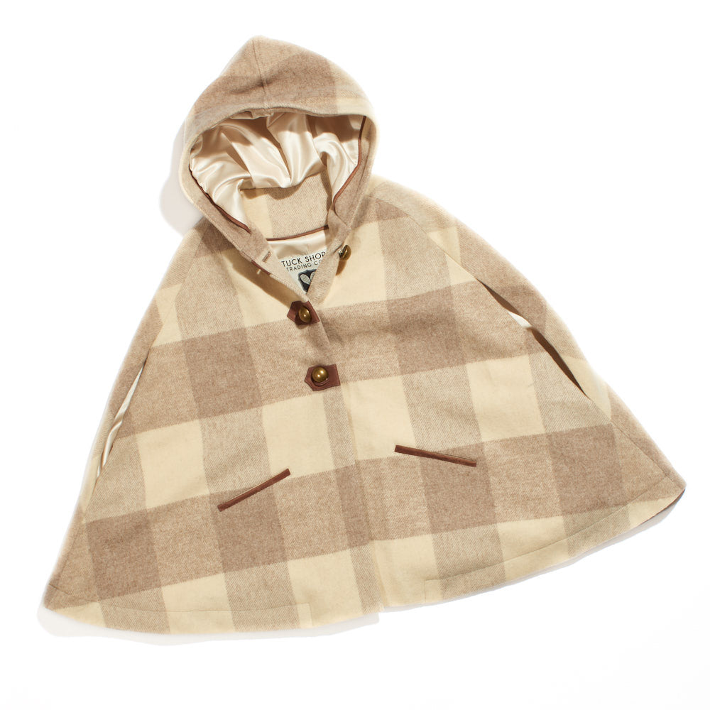 Dreamy Cape Cream/Beige Buffalo Check