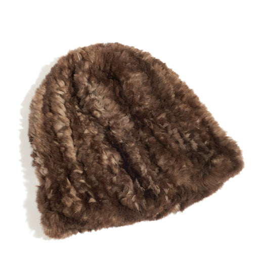 Recycled Knit Beaver Fur Toque