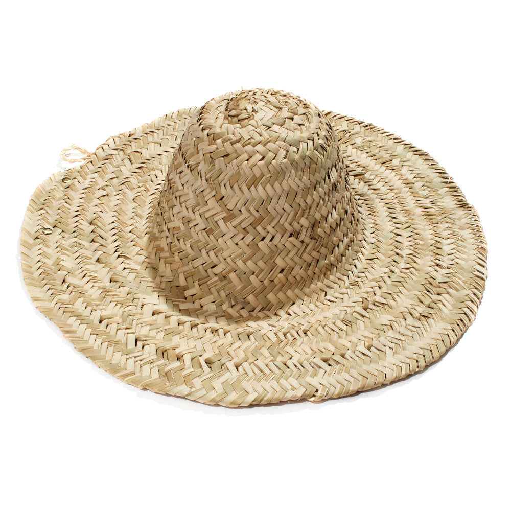 Straw Woven Hat - Plain (wide brim)