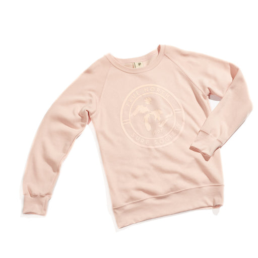 True North Surf Society Organic Cotton Sweatshirt - (Pink)
