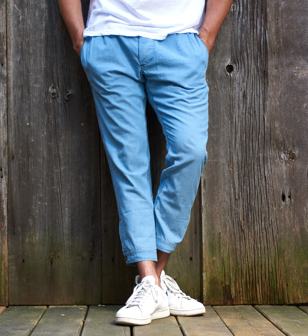The Weekender Pant - Light Chambray