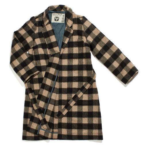 The City Coat - Black/Silk Rain Buffalo Check