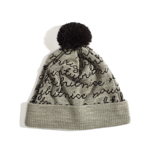Naughty or Nice Script Toque with Pom