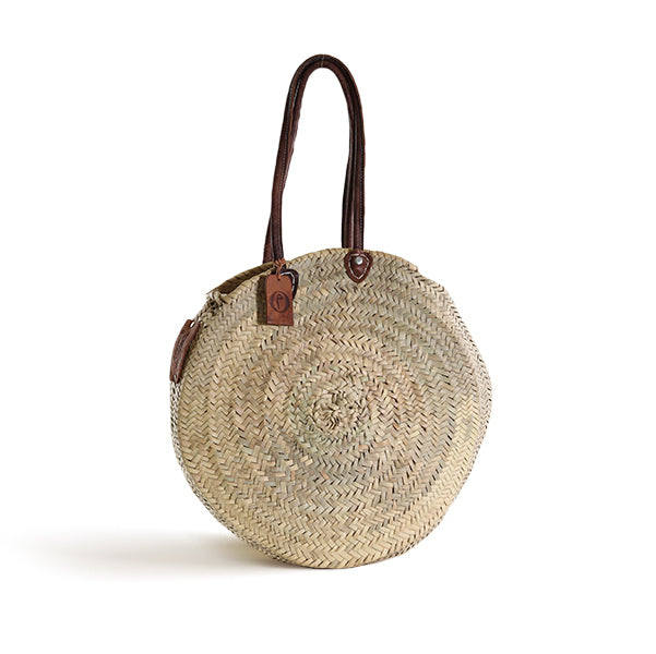 CUSTOM - Panier Round Large with Leather Handles