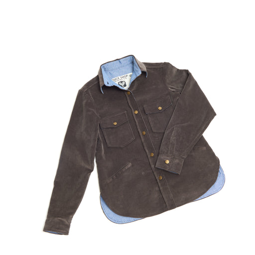 Men's Corduroy Cottage Coat (Charcoal)