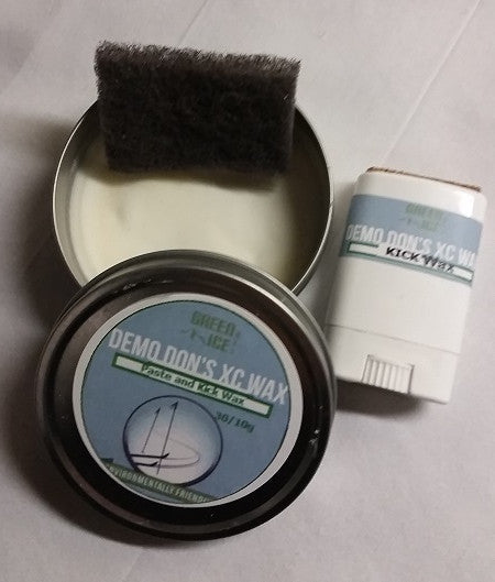 Nordic ski wax kit. Paste glide and kick wax