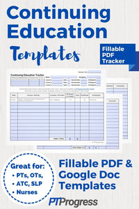 Continuing Education Tracker (Free Download)