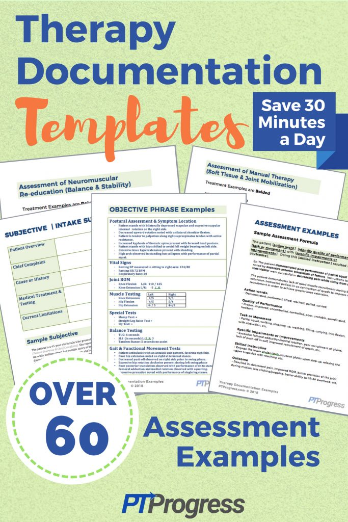 Physical Therapy Documentation Assessment Templates