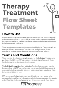 Therapy Treatment Flowsheet Templates