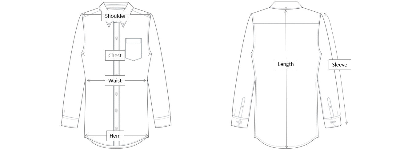 Long Sleeve Dimensions Diagram
