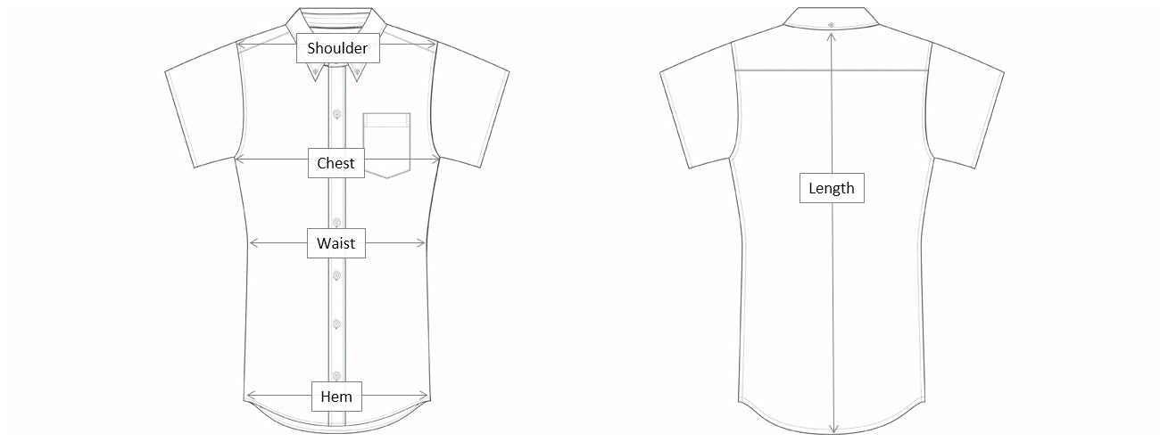 Short Sleeve Dimensions Diagram