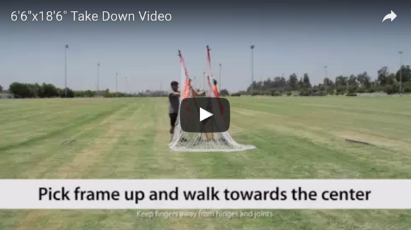 "18'6""x6'6"" Football Take Down Video"