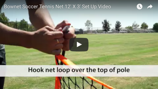3' x 12' (.9m x 3.6m) Youth Tennis Net Take Down Video