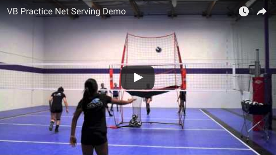 Volleyball Practice Net Serving Demo Video