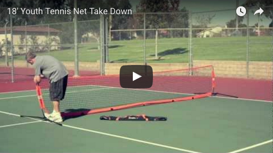 "2'9"" x 18"" Youth Tennis Take Down Video"