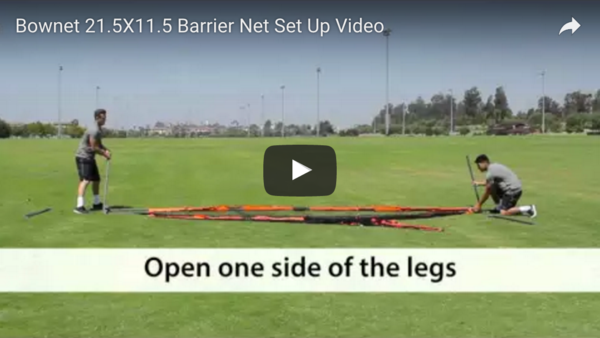 "11'6"" x 21'6"" Barrier Net Set Up Video"