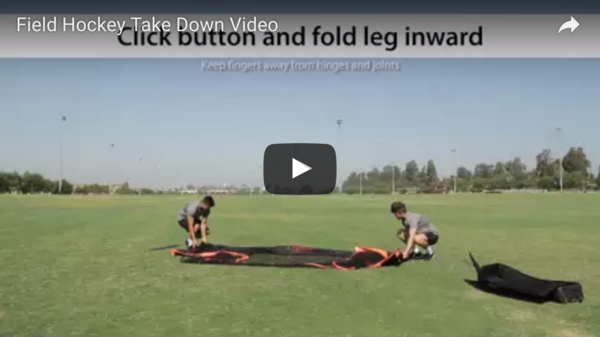 Field Hockey Goal Take Down Video