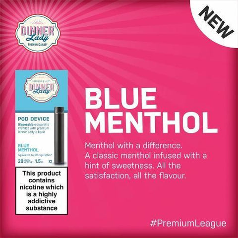 Dinner Lady Disposable Vape Pod Device - Blue Menthol - VapeStuff NZ