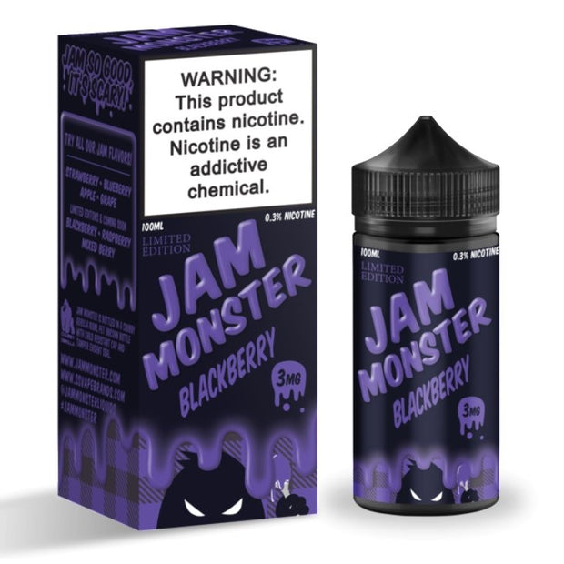 JAM MONSTER - BLACKBERRY - 100ML - VapeStuff NZ