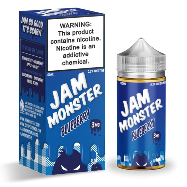 JAM MONSTER - BLUEBERRY - 100ML - VapeStuff NZ