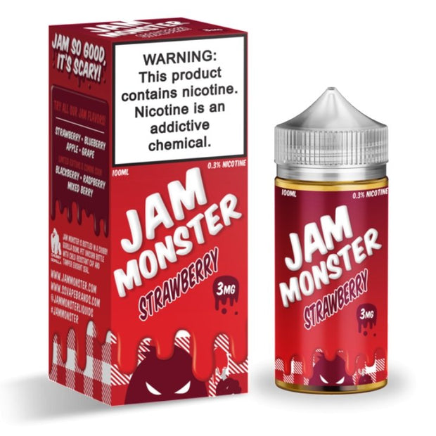 JAM MONSTER - STRAWBERRY - VapeStuff NZ