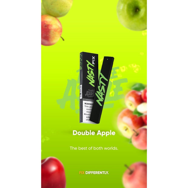 NASTY FIX - DOUBLE APPLE - VapeStuff NZ