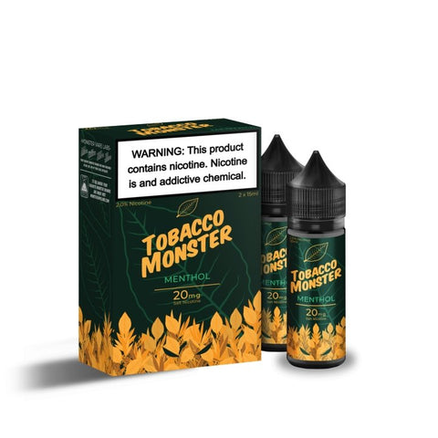 TOBACCO MONSTER SALT MENTHOL 2x 15ml (TWIN PACK) - VapeStuff NZ