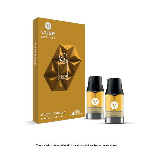 Vuse ePod eLiquids - Golden Tobacco - 1.9ml - VapeStuff NZ