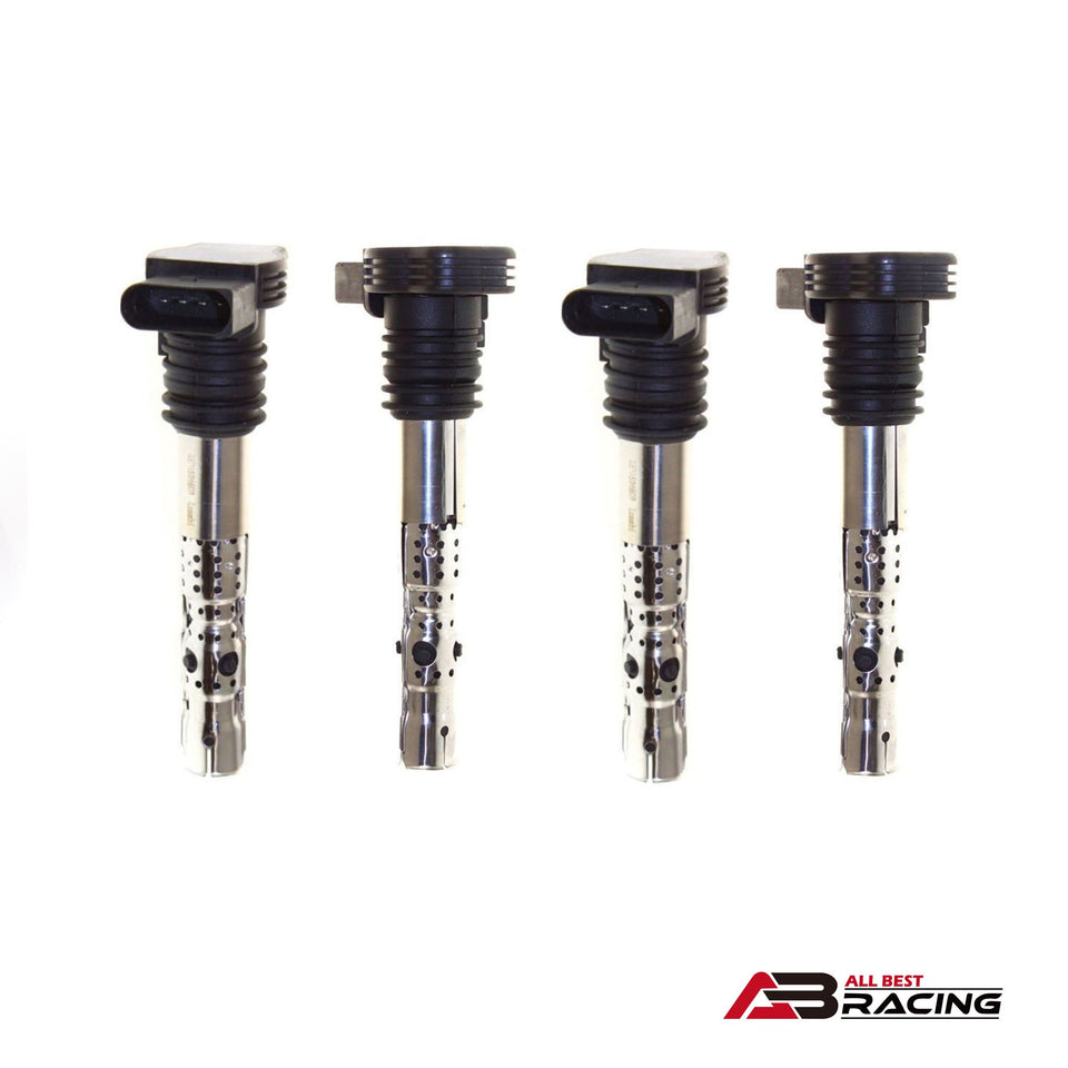 Ignition Coil for VW Golf Jetta Passat Beetle Audi A4 A6 TT 1.8T UF411 Set of 4 - A.B.Racing Suspension Parts