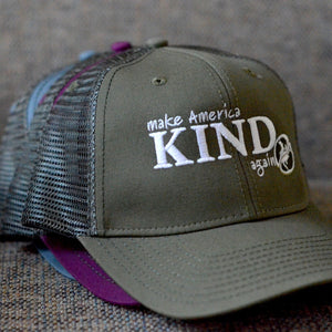 "Hat with mesh back, ""Make America Kind Again"""
