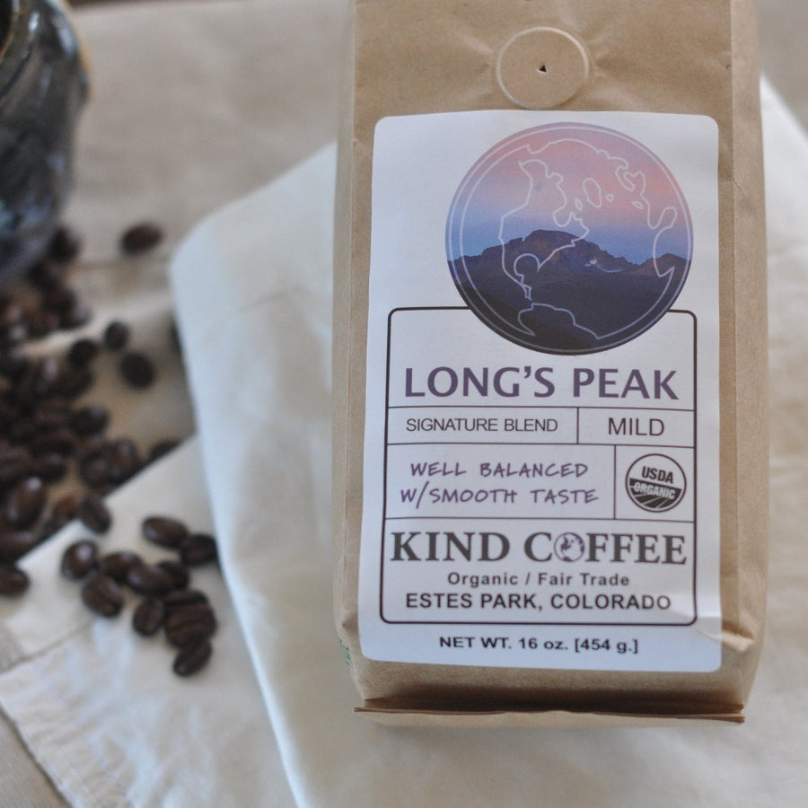 Bag of mild coffee - well balanced with smooth taste. Organic, fair trade.