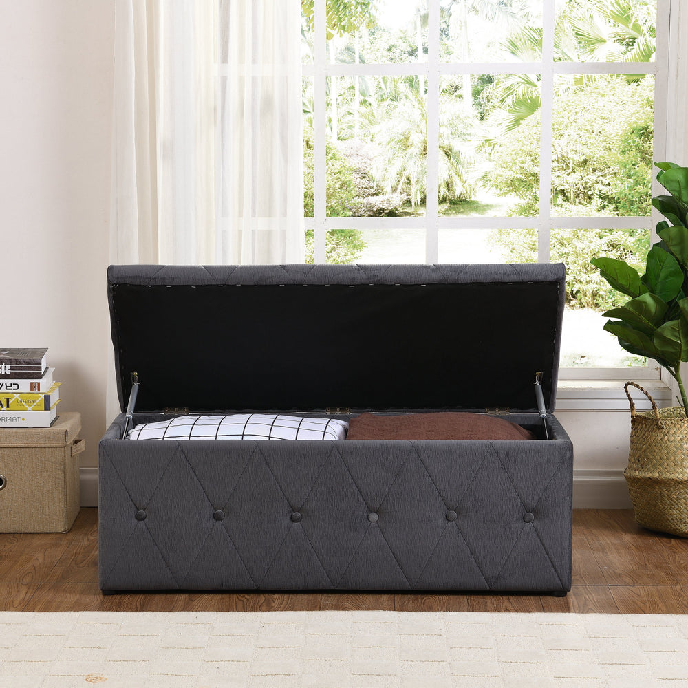 Charcoal Blanket Box | Quality Blanket Boxes